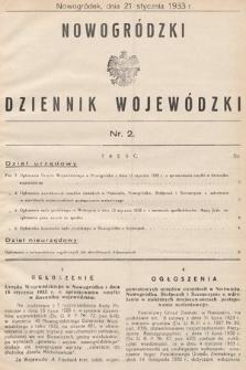 Nowogródzki Dziennik Wojewódzki. 1933, nr2