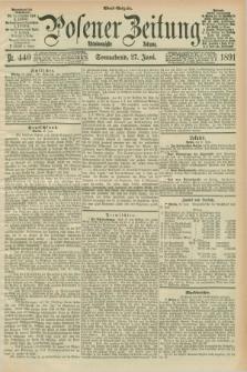 Posener Zeitung. Jg.98, Nr. 440 (27 Juni 1891) - Abend=Ausgabe.