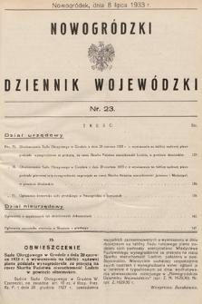 Nowogródzki Dziennik Wojewódzki. 1933, nr23