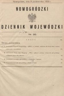 Nowogródzki Dziennik Wojewódzki. 1933, nr30