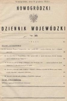 Nowogródzki Dziennik Wojewódzki. 1933, nr36