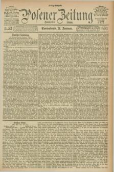 Posener Zeitung. Jg.100, Nr. 53 (21 Januar 1893) - Mittag=Ausgabe.