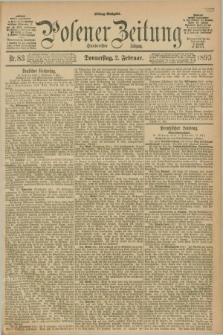 Posener Zeitung. Jg.100, Nr. 83 (2 Februar 1893) - Mittag=Ausgabe.
