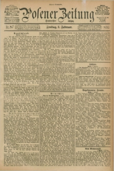 Posener Zeitung. Jg.100, Nr. 87 (3 Februar 1893) - Abend=Ausgabe.