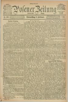 Posener Zeitung. Jg.100, Nr. 101 (9 Februar 1893) - Mittag=Ausgabe.