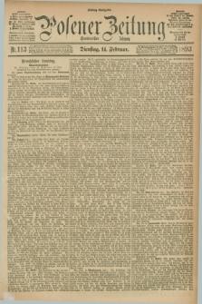 Posener Zeitung. Jg.100, Nr. 113 (14 Februar 1893) - Mittag=Ausgabe.