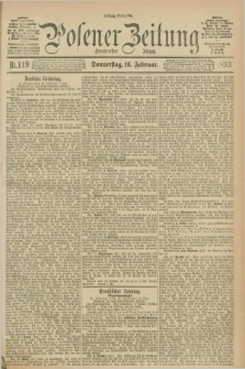 Posener Zeitung. Jg.100, Nr. 119 (16 Februar 1893) - Mittag=Ausgabe.