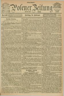 Posener Zeitung. Jg.100, Nr. 140 (24 Februar 1893) - Mittag=Ausgabe.