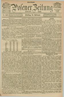 Posener Zeitung. Jg.100, Nr. 141 (24 Februar 1893) - Abend=Ausgabe.