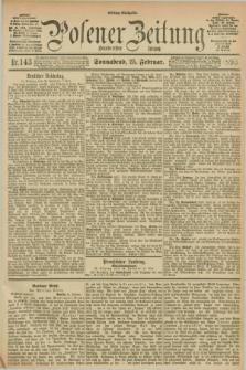 Posener Zeitung. Jg.100, Nr. 143 (25 Februar 1893) - Mittag=Ausgabe.