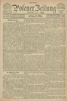 Posener Zeitung. Jg.100, Nr. 212 (24 März 1893) - Mittag=Ausgabe.