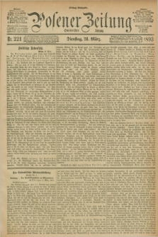 Posener Zeitung. Jg.100, Nr. 221 (28 März 1893) - Mittag=Ausgabe.