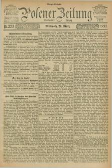 Posener Zeitung. Jg.100, Nr. 223 (29 März 1893) - Morgen=Ausgabe. + dod.