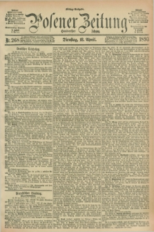 Posener Zeitung. Jg.100, Nr. 268 (18 April 1893) - Mittag=Ausgabe.