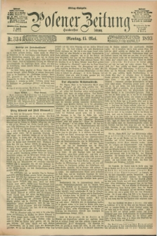 Posener Zeitung. Jg.100, Nr. 334 (15 Mai 1893) - Mittag=Ausgabe.