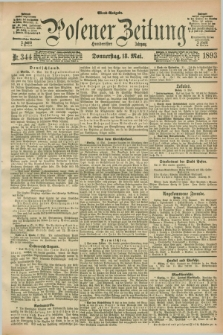 Posener Zeitung. Jg.100, Nr. 344 (18 Mai 1893) - Abend=Ausgabe.