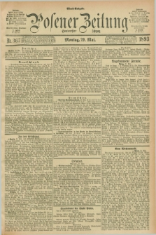 Posener Zeitung. Jg.100, Nr. 367 (29 Mai 1893) - Abend=Ausgabe.