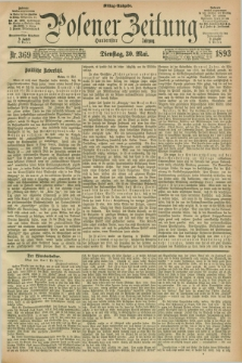 Posener Zeitung. Jg.100, Nr. 369 (30 Mai 1893) - Mittag=Ausgabe.
