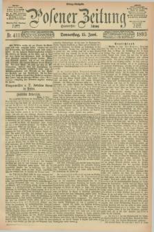 Posener Zeitung. Jg.100, Nr. 411 (15 Juni 1893) - Mittag=Ausgabe.