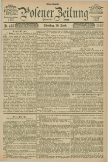 Posener Zeitung. Jg.100, Nr. 423 (20 Juni 1893) - Mittag=Ausgabe.
