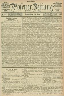 Posener Zeitung. Jg.100, Nr. 447 (29 Juni 1893) - Mittag=Ausgabe.