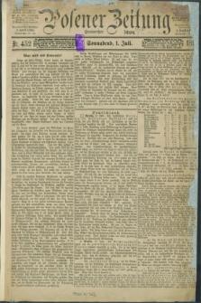 Posener Zeitung. Jg.100, Nr. 452 (1 Juli 1893) - Morgen=Ausgabe. + dod.