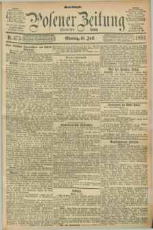 Posener Zeitung. Jg.100, Nr. 475 (10 Juli 1893) - Abend=Ausgabe.