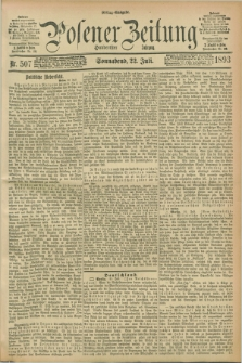 Posener Zeitung. Jg.100, Nr. 507 (22 Juli 1893) - Mittag=Ausgabe.