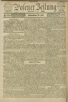 Posener Zeitung. Jg.100, Nr. 524 (29 Juli 1893) - Morgen=Ausgabe. + dod.