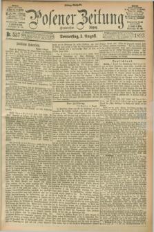 Posener Zeitung. Jg.100, Nr. 537 (3 August 1893) - Mittag=Ausgabe.