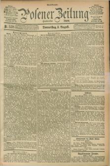 Posener Zeitung. Jg.100, Nr. 538 (3 August 1893) - Abend=Ausgabe.