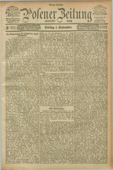 Posener Zeitung. Jg.100, Nr. 611 (1 September 1893) - Morgen=Ausgabe. + dod.