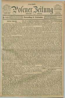 Posener Zeitung. Jg.100, Nr. 645 (14 September 1893) - Mittag=Ausgabe.