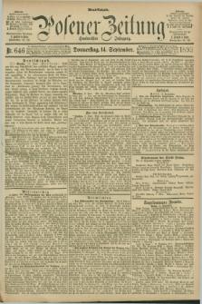 Posener Zeitung. Jg.100, Nr. 646 (14 September 1893) - Abend=Ausgabe.