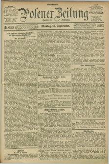 Posener Zeitung. Jg.100, Nr. 655 (18 September 1893) - Abend=Ausgabe.