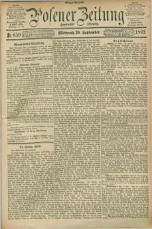 Posener Zeitung. Jg.100, Nr. 659 (20 September 1893) - Morgen=Ausgabe. + dod.