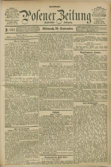 Posener Zeitung. Jg.100, Nr. 661 (20 September 1893) - Abend=Ausgabe.