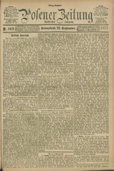 Posener Zeitung. Jg.100, Nr. 669 (23 September 1893) - Mittag=Ausgabe.