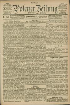 Posener Zeitung. Jg.100, Nr. 670 (23 September 1893) - Abend=Ausgabe.