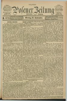 Posener Zeitung. Jg.100, Nr. 672 (25 September 1893) - Mittag=Ausgabe.