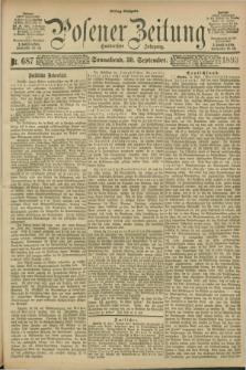 Posener Zeitung. Jg.100, Nr. 687 (30 September 1893) - Mittag=Ausgabe.