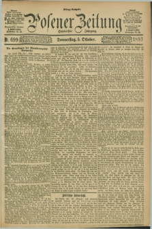 Posener Zeitung. Jg.100, Nr. 699 (5 Oktober 1893) - Mittag=Ausgabe.