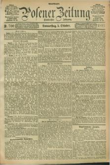 Posener Zeitung. Jg.100, Nr. 700 (5 Oktober 1893) - Abend=Ausgabe.