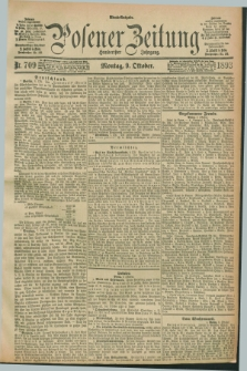 Posener Zeitung. Jg.100, Nr. 709 (9 Oktober 1893) - Abend=Ausgabe.