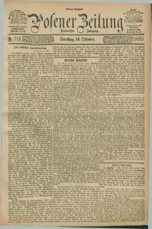 Posener Zeitung. Jg.100, Nr. 711 (10 Oktober 1893) - Mittag=Ausgabe.
