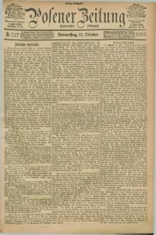 Posener Zeitung. Jg.100, Nr. 717 (12 Oktober 1893) - Mittag=Ausgabe.