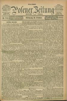 Posener Zeitung. Jg.100, Nr. 732 (18 Oktober 1893) - Mittag=Ausgabe.