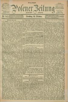 Posener Zeitung. Jg.100, Nr. 765 (31 Oktober 1893) - Mittag=Ausgabe.