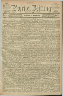 Posener Zeitung. Jg.100, Nr. 769 (1 November 1893) - Abend=Ausgabe.