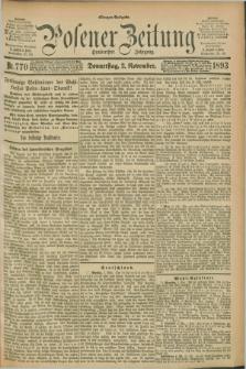Posener Zeitung. Jg.100, Nr. 770 (2 November 1893) - Morgen=Ausgabe. + dod.